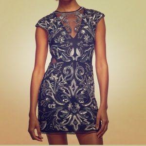 stunning beaded bodycon dress from miss selfridge
